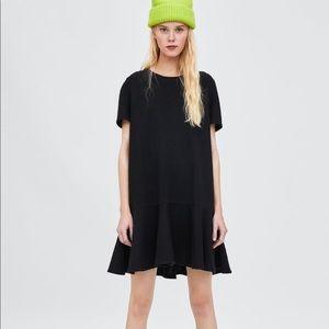 Zara Florence hem black dress